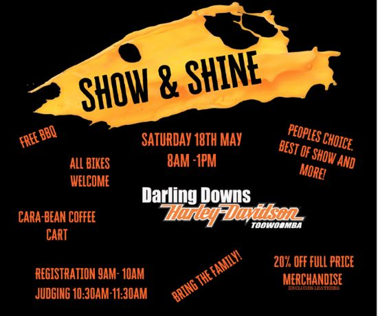 May Sausage Sizzle & DD H-D Show & Shine